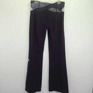 Lululemon Purple Flare Yoga Leggings
